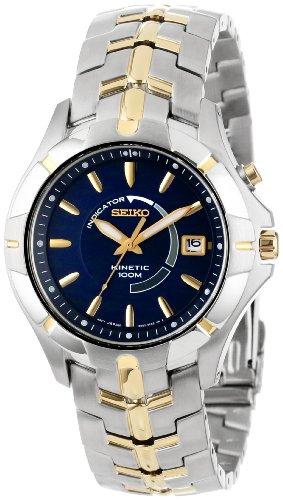Seiko Men's SKA402 Stainless Steel Kinetic Watch