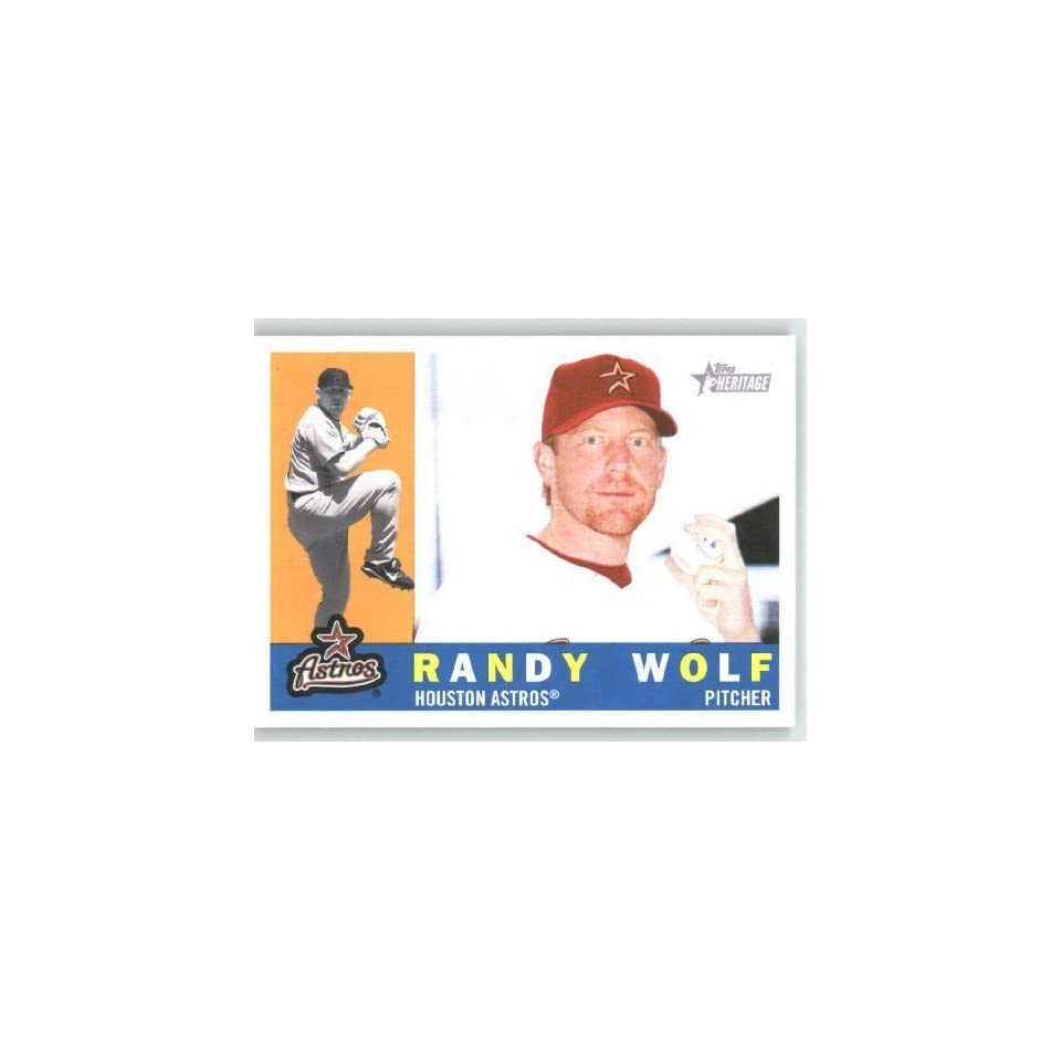 Randy Wolf   Houston Astros   2009 Topps Heritage Card # 209   MLB Trading Card