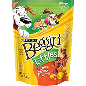 Purina Beggin' Littles Dog Treats, Bacon and Cheese Flavor, 6oz Pouch, Pack of 6