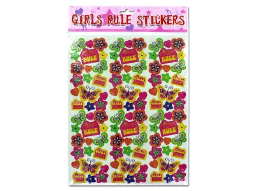 """""""girls Rule"""" Stickers"" - 1"