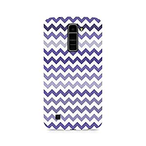 Motivatebox- Purple Chevron Shades Premium Printed Case For LG K10 -Matte Polycarbonate 3D Hard case Mobile Cell Phone Protective BACK CASE COVER. Hard Shockproof Scratch-