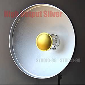 Buy 22 inch beauty dish soft light metal reflector in silver color with 30 deg metal honeycomb - Elinchrom d lite rx 4 price in india ...