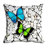 meSleep Colorful Butterfly 3D Cushion Cover (16x16)