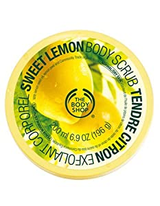 The Body Shop Sweet Lemon Body Scrub, Regular, 7.75 Ounce