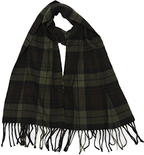 Winter-or-Fall-Cold-Weather-Irish-Plaid-Long-Cashmere-Feel-Scarf-Olive