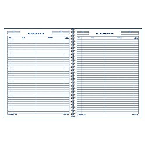 REDIFORM Call Register Book, 11 x 8.5