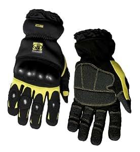 Body Glove 90141 Heavy Duty Mechanics Gloves, Black and Yellow, Medium
