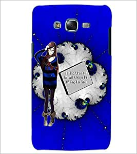 PrintDhaba Girl with Love Quote D-1041 Back Case Cover for SAMSUNG GALAXY ON 5 (Multi-Coloured)