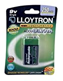 Vconcal(TM) 2 x 9V PP3 250 mAh Lloytron Rechargeable Battery up to 1000 Times Rechargeable