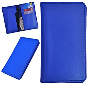 DCR Pu Leather case cover for Micromax Bolt A068 (blue)