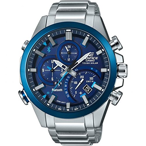 Casio Edifice Solar Herren Smart Watch silber/blau EQB-500DB-2AER