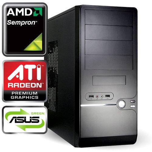 computerwerk - Office Komplett PC Granby A - AMD Sempron 145 2.8 GHz, 2 GB DDR3-1333, 500 GB S-ATAIII Festplatte, DVD±RW Dual Layer, 256 MB GeForce 7025, Miditower Schwarz, Silent 500 W Netzteil