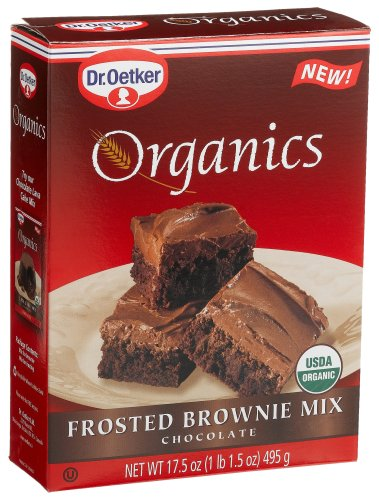 Organics Frosted Brownie Mix Chocolate Dr. Oetker 17.5-Ounce Boxes
