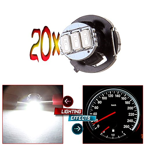 CCIYU 20x T4/T4.2 White Neo Wedge 3LED Instrument Dash Climate Indicator Console Bulbs For 1996-1999 Dodge Caravan (2004 Explorer Center Console compare prices)