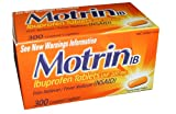 Motrin IB-Ibuprofen Pain Reliever Tablets 200 mg - 300 Coated Caplets