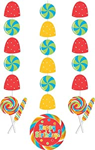 Sugar Buzz Hanging Cutouts Decorations (3) Candy Birthday Party Supplies