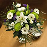 FRESH FLOWERS Lilies, Germini, Chrysanthemums and Deep Blue Statice with FREE DELIVERY to the UK