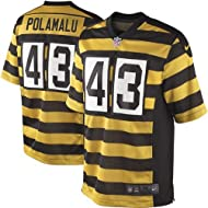 Pittsburgh Steelers Troy Polamalu Youth Throwback Game Jersey, Black/Gold