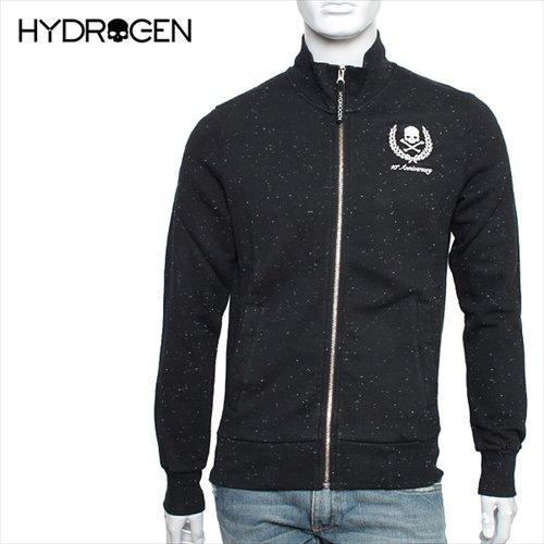 (ハイドロゲン) HYDROGEN トラックジャケット 『FELPA FULLZIP HERITAGE SKULL』 【BLACK】 【サイズ:XL】 1...