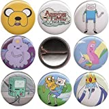 "Adventure Time set of 8 - 1"" pinback buttons Finn Jake badges pins"