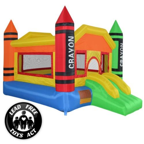 Mini Crayon Bounce House Slide Jump Bouncer Inflatable