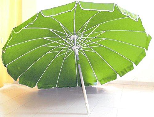 Ombrellone diam. 220 cm in alluminio palo 32mm, 16 strecche fibra vetro 5 mm
