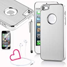Pandamimi IPhone 5 Case - Deluxe Metal Aluminum Chrome Hard Case Cover For Apple IPhone 5 5G Screen Protector...