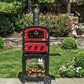 Fornetto Wood Fired Pizza Oven and Smoker - Red