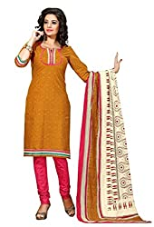 HIFI Ethnicwear Women's Dress Material(HIFI 3417_Yellow_Free Size)
