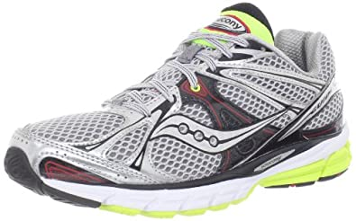 Saucony Men's Guide 6 Running Shoe,Silver/Red/Citron,8 M US