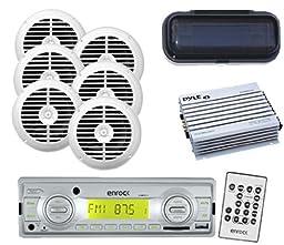 Boat Yacht Media Receiver USB AUX 200W Radio 6 x 6.5\