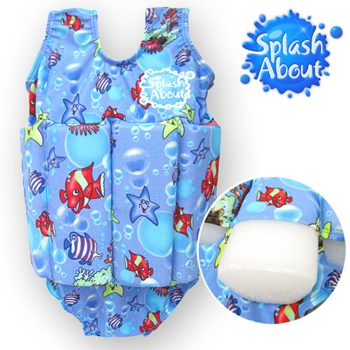 Splash About Float Suit With Adjustable Buoyancy (Swimwear), Fantasy Fish Print, 1 To 2 Years front-953134