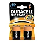 Duracell 9VK2P Alkaline Battery pack of 2 PP3S/LF22 (DUR9VK2P) by Duracell