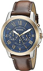 Fossil Grant Analog Blue Dial Mens Watch - FS5150
