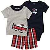Carters Boys 3-12 Months 3 Piece Plane Short Set