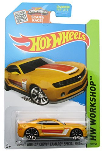 Hot Wheels, 2015 HW Workshop, '13 Hot Wheels Chevy Camaro Special Edition [Yellow] Die-Cast Vehicle #232/250 - 1