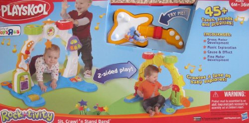 "Playskool Rock*Tivity SIT, CRAWL 'n STAND BAND Playset w LIGHTS, MUSIC, SOUNDS & 20+ Activities TOYS ""R""US EXCLUSIVE (2011) - 1"