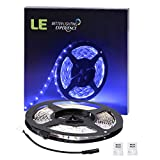 LE-164ft5m-Flexible-LED-Light-Strips-300-Units-SMD-3528-LEDs-12V-DC-LED-Strip-Lights-Blue-Non-waterproof-Lighting-Strips-LED-Tape-for-GardensHomesKitchenCarsBarDIY-Party