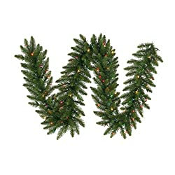 "9' x 20"" Pre-Lit Camdon Fir Artificial Christmas Garland - Multi LED Lights"