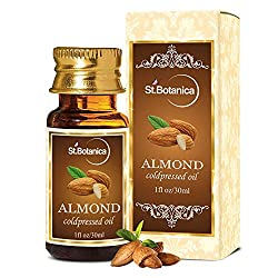 St.Botanica Sweet Almond Pure Coldpressed Carrier Oil, 30ml - Useful for Hair, Skin