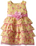 Nannette Toddler Girls Floral Printed Swiss Dot Dress