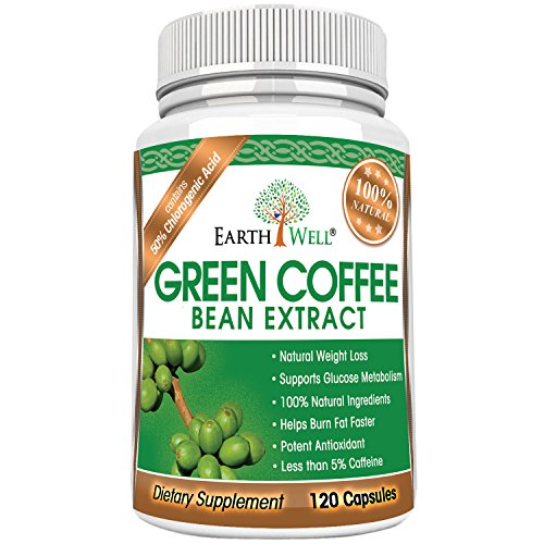 Green Coffee Bean Extract - Best Natural Weight Loss Supplement and Appetite Suppressant - Burn Fat Faster with Premium Quality Dietary Pills - 50% Chlorogenic Acid - 800mg - Pure and Clinically Proven - 120 capsules (Green Coffee Tablets compare prices)