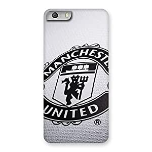 Ajay Enterprises Brave Grey MU Team Back Case Cover for Micromax Canvas Knight 2