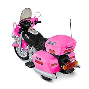National Products 12V Police Motorcycle - Pink by National Products