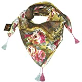 Women's Floral Spring & Summer Square Scarf - Cotton Print Scarves