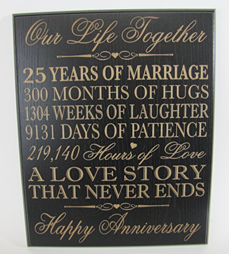 25th Wedding Anniversary Gift Ideas For Him: 25th Wedding Anniversary Wall Plaque Gifts For Couple