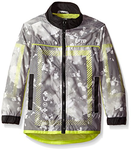 LRG Big Boys' Cloudy Nylon Track Jacket, Black, X-Large