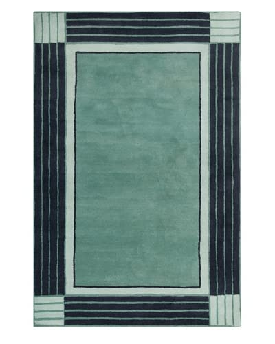 Filament Leisa Hand-Tufted Wool Rug, Teal, 5′ x 7′ 6″