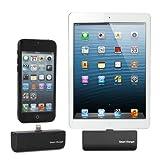 GMYLE(R) ブラックiPhone、アプリ、iPod、など コネクタ付き超小型/スモール/(高品質)外部バッテリー/ポータブルバッテリー/バックアップ充電器/パワーバンク/緊急バックアップ(2200mAhの)