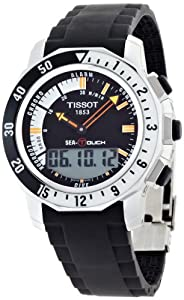Tissot Men's T0264201728100 Sea Touch In Meter Black Dial Watch